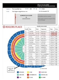 Oilers Tickets : Pick Your Game - Selling Up to 8 More Games