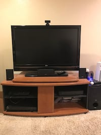 """42"""" 1080p lg tv with sony surround sound system"""