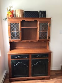 brown wooden desk with hutch Châteauguay, J6K 1M6