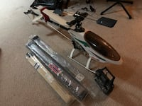 RC nitro helicopter. Raptor 60/90 with remote and extras. 25 km