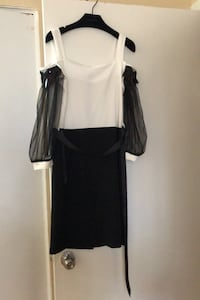 Midi dress white and black