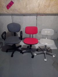 Computer chairs $5 each or $10 for all 3 Markham, L6C 2G6