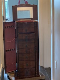 Jewelry Armoire - large capacity, excellent condition, beautiful wood Baltimore, 21211