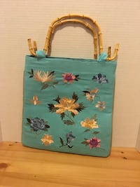 Teal Blue Embroidered Purse and/or handbag with Asian Flair Edmonton, T6E 1P3