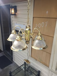 two brown-and-white pendant lamps 1199 mi