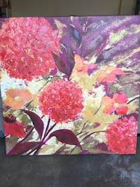 Pink and white petaled flower painting Glendale, 91202