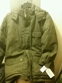 Dark olive zip-up plush coat (new) Gibsonburg, 43431