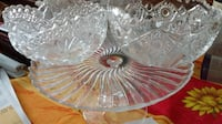 Cake Stand & 2 Crystal bowls MONTREAL