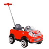 Roll Play Mini Cooper Push Car in Red