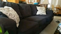 black fabric 3-seat sofa Fort Collins, 80524