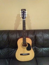 black and brown acoustic guitar Whitby, L1R