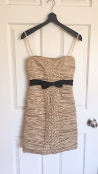 BCBG - Beige/ Black ruched strapless dress Laval, H7M 2E8