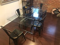 Glass Dining Room Table & Metallic Chairs  West Hollywood, 90046