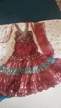 women's red and white floral dress Hyderabad, 500092