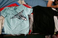two teal and black crew-neck t-shirts Brownsville, 78526