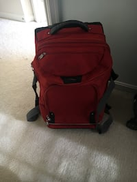 red and black luggage bag Bristow, 20136