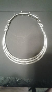 3-ring etched silver necklace