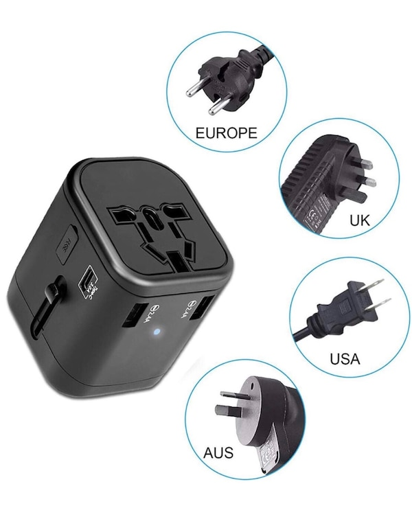 a042a0a437bb5 Brand New In Box Travel Adapter Universal International Power Adapter Quick  USB Charger with 1 Type C and 3 USB Ports All in One Worldwide Power ...