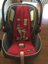 baby's red and black car seat carrier Falls Church, 22043