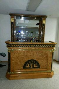brown and black wooden framed glass display cabine New Hyde Park, 11040