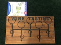 Wine Tasting sign and bottle holder. Never used.