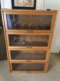 Barrister Bookcase with Glass doors Sterling
