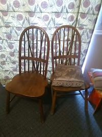 four brown wooden windsor chairs West Valley City, 84128