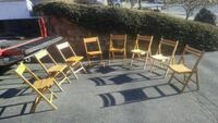 Lot of 8 wooden folding function chairs New Bedford, 02745