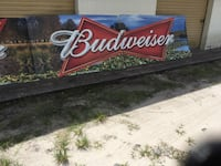 Budweiser sign 4 feet high 56 feet long 7  eight foot section