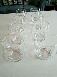 Set of 8 glasses  obo Forest Hill, 21050