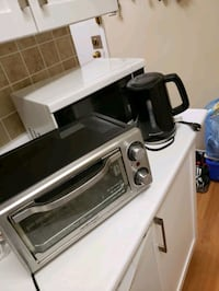 Microwave, toaster oven and electric kettle