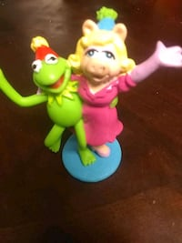 two green and pink plastic toys