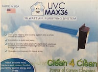 UVC max36 36 watt air purifying system Stafford, 22554