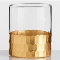 Brand new Gold Faceted Barware Glasses - Set of 2