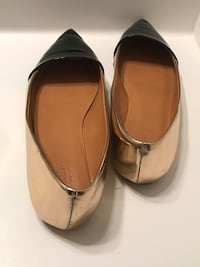 Colorbloock Amelia Metallic gold and black flat shoes Size 11 Frederick, 21704