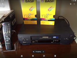 Samsung VCR with remote instruction book 2 New Tapes