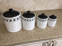 Canester set of four - white and black Newmarket, L3X 0C5