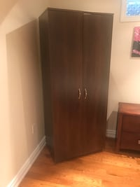 brown wooden 2-door wardrobe Mississauga, L5M 7M7