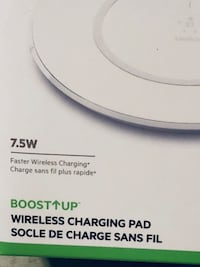 WIRELESS CHARGER  BELKIN   7.5WATT  BOOSTUP   For:    IPHONE  X.. 7..  8... 7+ 8+  Samsung.. Apple Valley, 92307