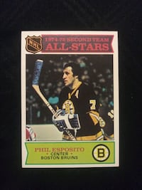 1975 TOPPS PHIL ESPOSITO HOCKEY CARD BOSTON BRUINS EXCELLENT CONDITION