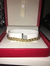 """7"""" 14k gold double rope chain bracelet(NEVER WORN)"""