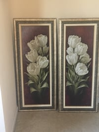 two white petaled flower paintings Frederick, 21703