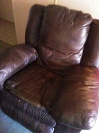 brown leather recliner sofa chair Bartow, 33830