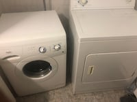 white front-load washer and dryer set Montréal, H3G 1B7