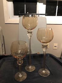 SET OF 3 AMBER STEMWARE Kitchener, N2A 2W1