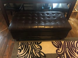 Leather chest bench