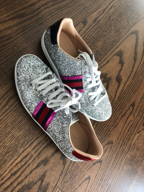 444575716409 Used Gucci Ace Glitter Sneakers Women's Size 9 for sale in New York ...
