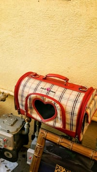 red and white plaid leather handbag South Gate, 90280
