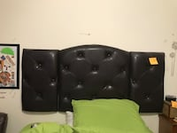 black leather tufted sofa chair New York, 11207