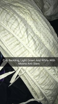 White-and-green moon and star-print bed liners Brandon, 39047